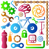 Bike tools icons