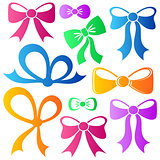 Colorful vector bows