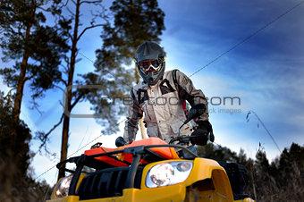 ATV biker