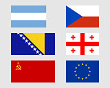Set of flags 02.