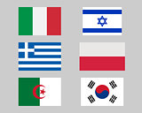 Set of flags 04.