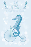 Seahorse on bicycle