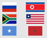 Set of flags 09.