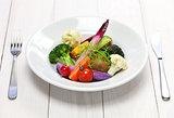 colorful vegetarian salad