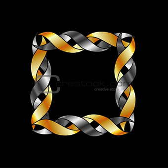 Abstract gold frame or design element