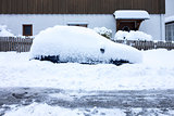 car covered in snow