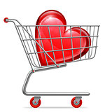 Love Heart in Shopping Cart