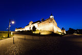 "Old fortress ""Cetatuia"" illuminated at night, Brasov"