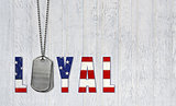 dog tags for loyal military