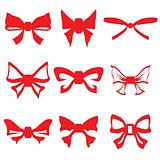 red bows set