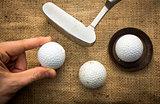 Lining up golf balls