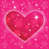 Heart shape on colorful background to the Valentine's day.