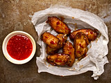 rustic roasted buffalo chicken wing