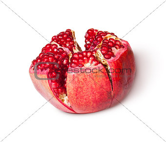 Broken Bright Ripe Delicious Juicy Pomegranate Rotated