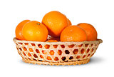Full Basket Of Ripe Tangerine