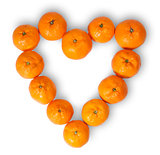 Heart-Shaped Group Of Tangerines