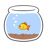 Cartoon Fish Bowl