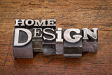 home design  text in metal type