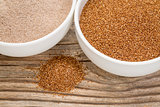teff grain and flour
