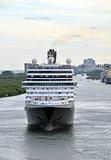 Modern ocean liner front view