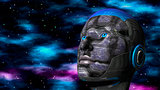 Cyborg Woman - Humanoid in deep space