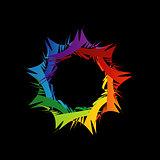 Fractal design element or banner for web