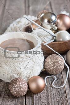 Christmas coffee and balls