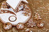 homenade Holiday Gingerbread house