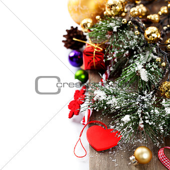 Bright christmas composition