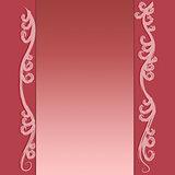 Pink floral vintage card