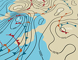 Weather system map