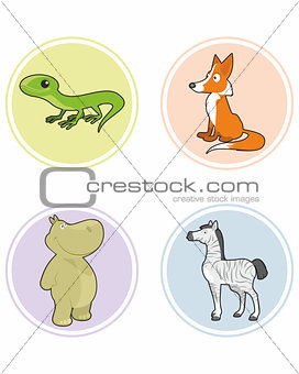 Four animals set