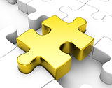 the golden puzzle piece