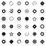 Stars and rotation design elements set.