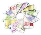 the euro bills