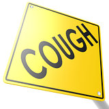 Road sign with cough