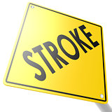 Road sign with stroke