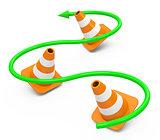 the cones