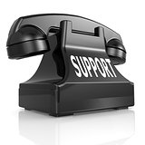 Black support phone
