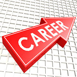 Career arrow with graph background