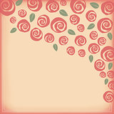 Valentine and wedding rose border