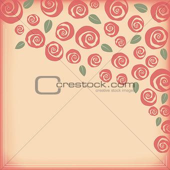Valentine and wedding rose border