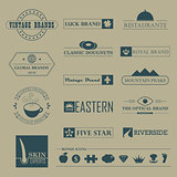 Set of Vintage brands and logo templates