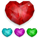Set of gems heart