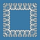 vintage border  frame engraving  with retro ornament pattern