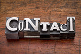 contact word in metal type