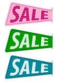 set vector sale sticker