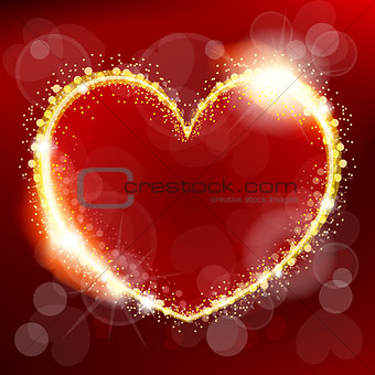 Abstract Valentine's Day heart