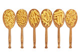 Pasta in Oak Spoons