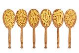 Pasta in Oak Spoons